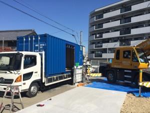 新造20ftコンテナハウス設置名古屋HI