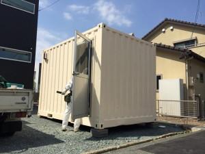 12ft中古コンテナハウス愛知県290419内装工事