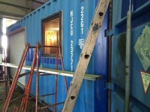 20ft海上コンテナ倉庫シャッター窓付き静岡県0523