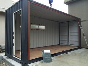 20ftハイキューブコンテナハウス浜松連結2017