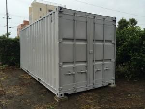 蒲郡市シャッター改造20ftコンテナ2