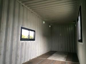 ハイキューブコンテナハウス短縮改造8m201712内観