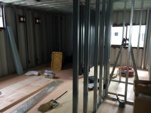 コンテナハウス20ft事務所内装工事201805