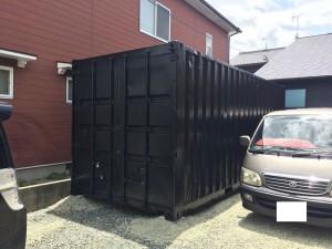 コンテナ倉庫20ftブラック5分艶仕上げ201806