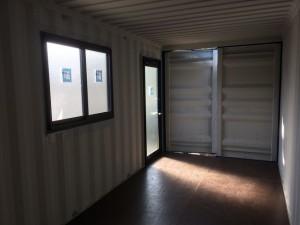 新造20ftコンテナドア窓取付 設置 愛知県201810