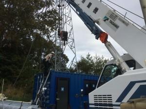 新造20ftコンテナ中古12ft内航用コンテナ 設置 愛知県201810