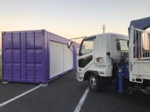 20ft海上コンテナダブルシャッター改造品 愛知県201811