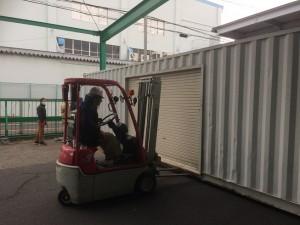 海上コンテナ移設作業 愛知県201901