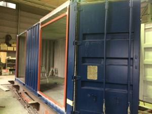コンテナハウスはなれと倉庫201903塗装前