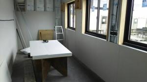 コンテナハウス調理場断熱材内装工事2019