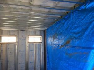 コンテナハウス 20ft 美容室 断熱材