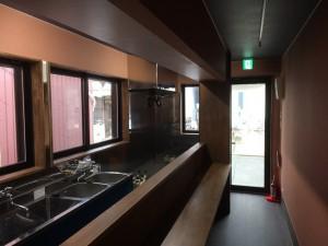コンテナハウス飲食店舗内観 名古屋市