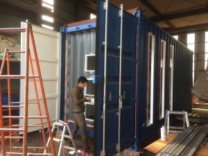 静岡県 20ft新造コンテナ事務所 改造開始2019