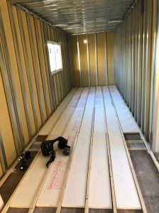 愛知県20ftハイキューブコンテナハウス内装断熱202009