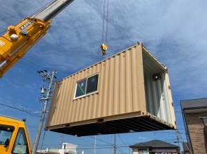 愛知県20ftハイキューブコンテナハウス設置202009