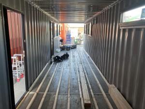 40ftノーマルコンテナ内装工事202009