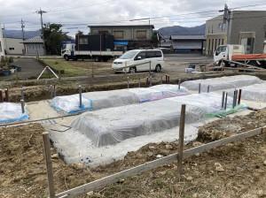 敦賀市JIS建築用コンテナ基礎工事